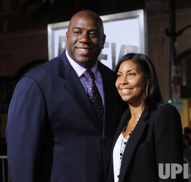 "Magic Johnson attends ""The Book of Eli"" premiere in Los Angeles"