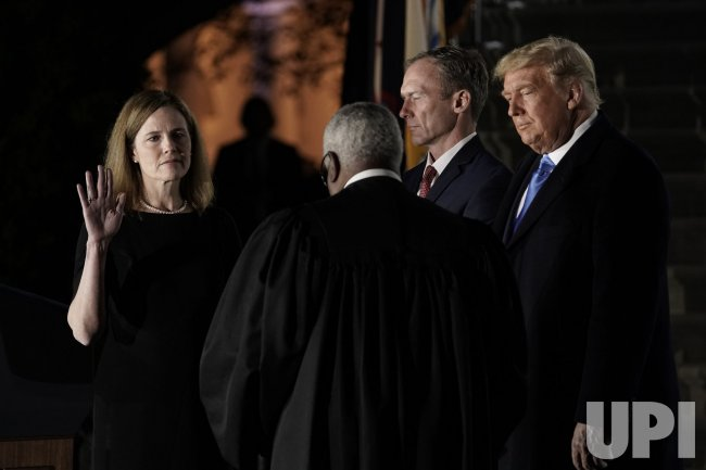 Barrett Takes the Constitution Oath at the White House