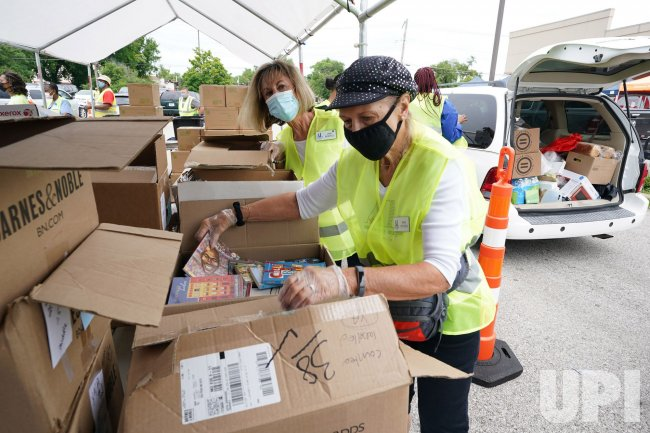School Supplies And Food Give-a-Way