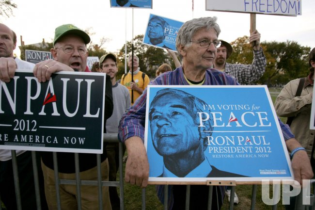 Ron Paul supporters at Dartmouth College in Hanover, New Hampshire