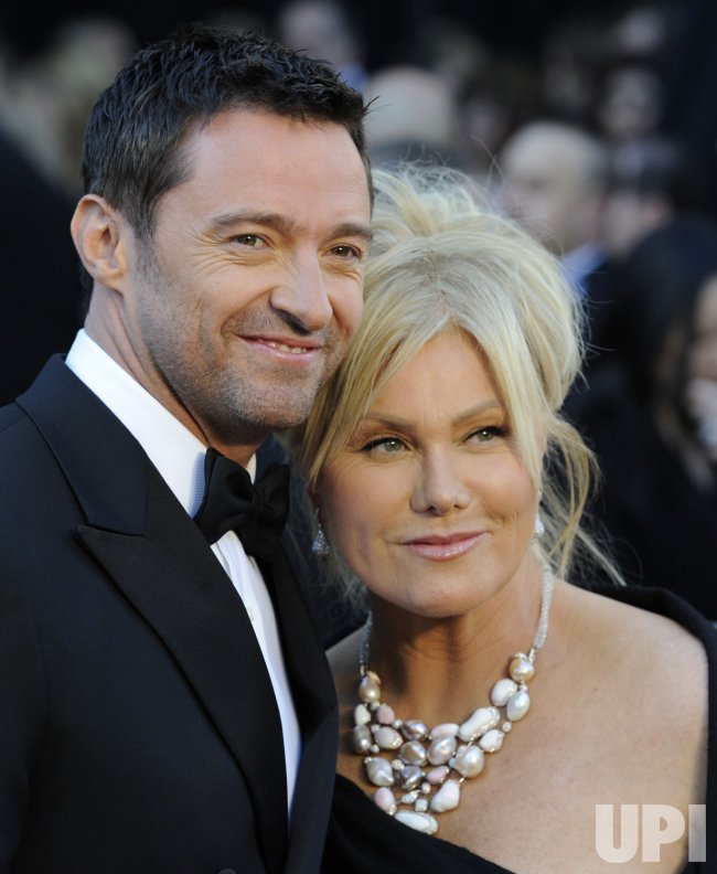 Hugh Jackman and wife Deborra-Lee Furness arrive at the 83rd annual Academy Awards in Hollywood