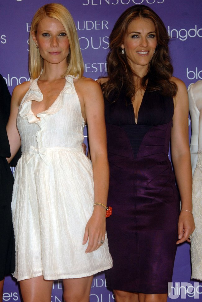 Actresses Paltrow and Hurley launch new perfume Sensuous