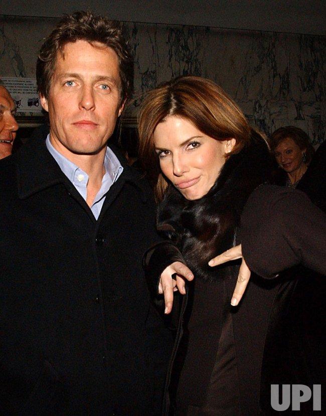 "Sandra Bullock and Hugh Grant attend the Broadway production of ""La Boheme"""