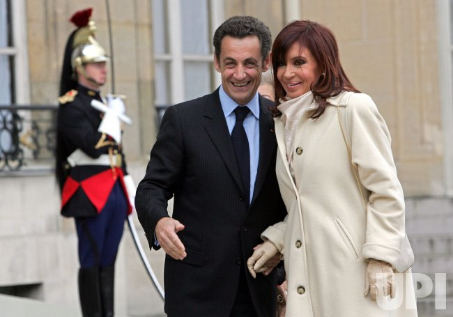 Argentinian President Kirchner at Elysee in Paris