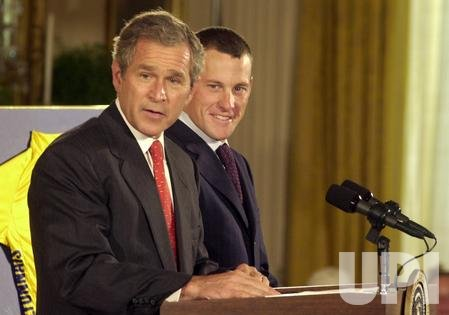 Lance Armstrong visits the White House