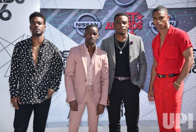 Lonzo Ball Awards >> Luke James, Elijah Kelley, Algee Smith, and Keith Powers attend the BET Awards in Los Angeles ...