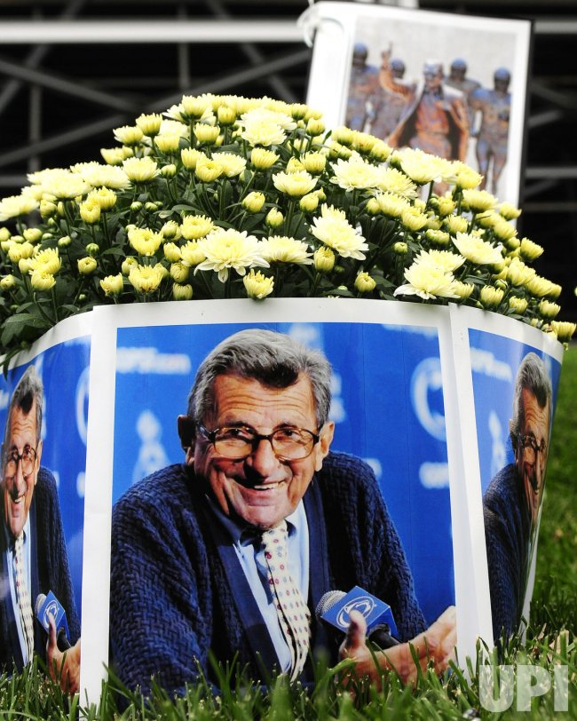 Fans Tribute to Joe Paterno at Beaver Stadium in Penn State University