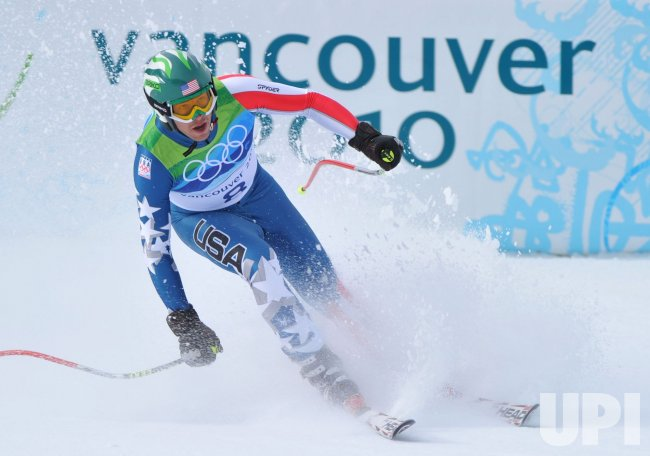 USA's Bode Miller wins bronze in the Men's Downhill in Whistler
