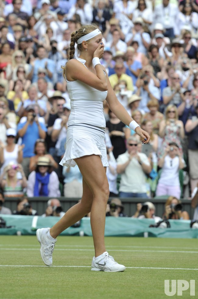 Petra Kvitova wins the Women's Final at Wimbledon