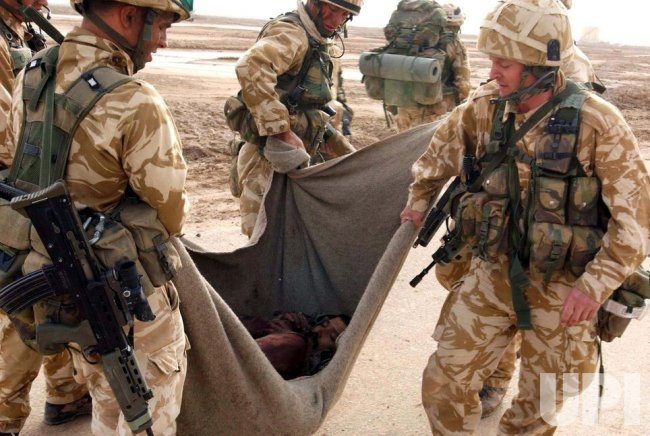 British troops in support of Operation Iraqi Freedom