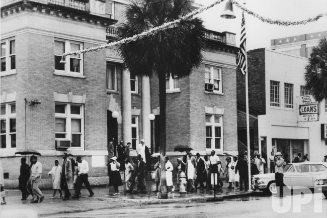 Blacks march for freedom and civil rights in Albany, GA