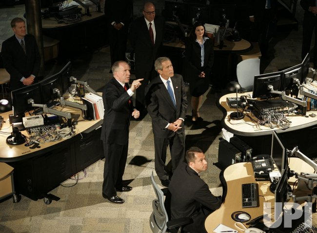 Bush Visits National Counterterrorism Center