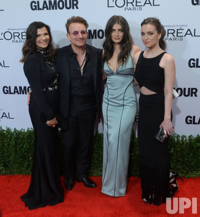 Bono attends the Glamour Women of the Year gala with wife and daughters in Los Angeles