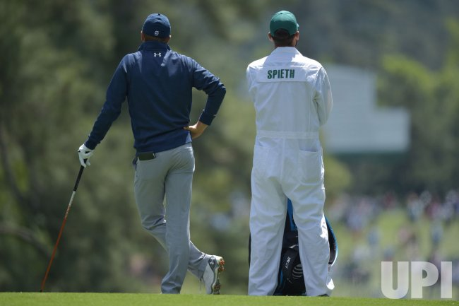 Michael Greller and Jordan Spieth at the Masters