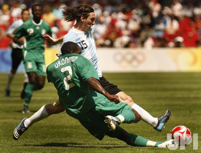 Argentina plays Nigeria in men's footlball final in Beijing