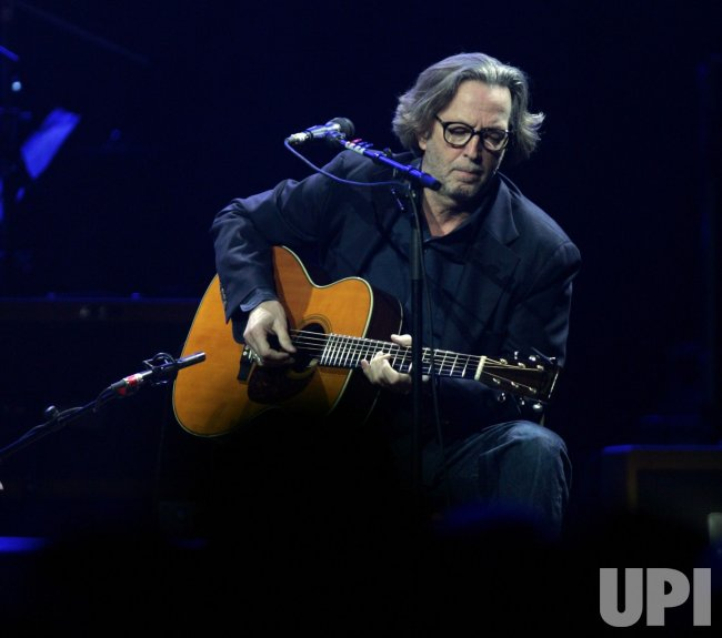 Eric Clapton performs in concert at Madison Square Garden in New York