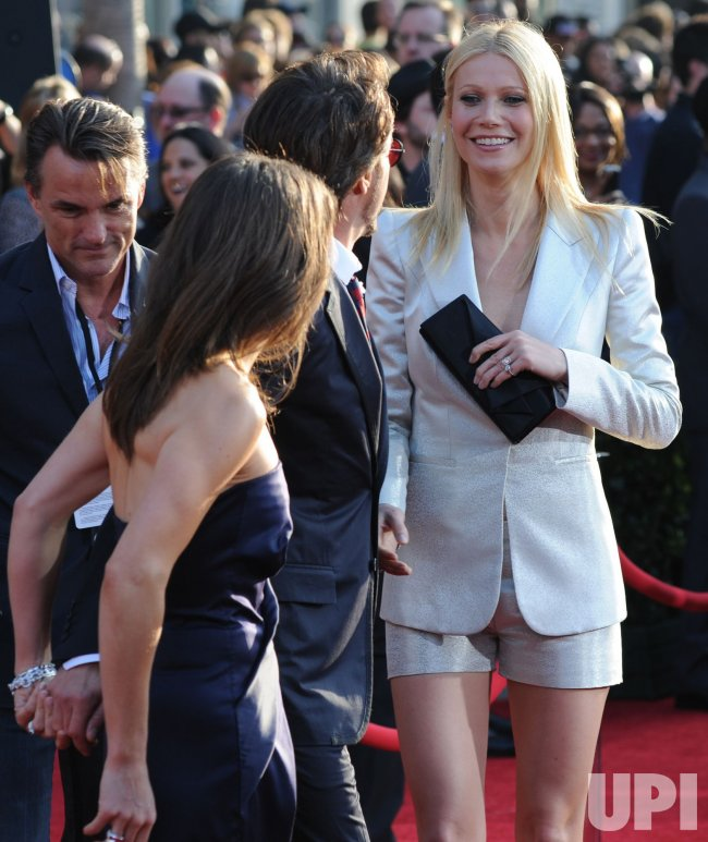 """Robert Downey Jr. and Gwyneth Paltrow attend the """"Iron Man 2"""" premiere in Los Angeles"""