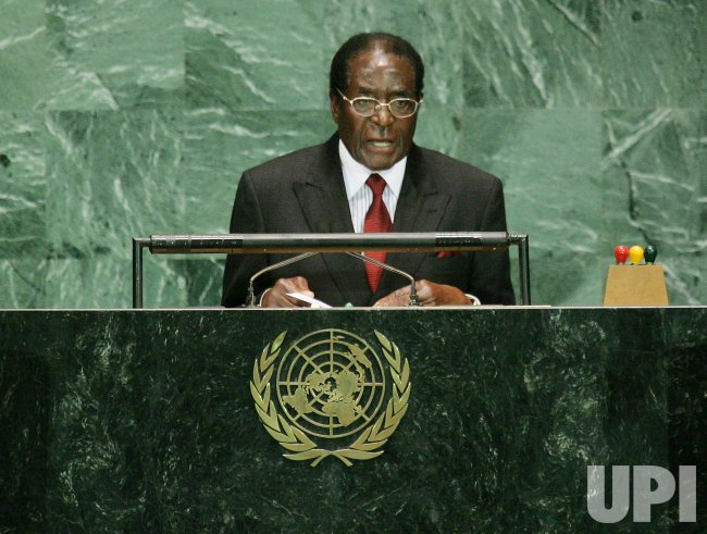 PRESIDENT MUGABE OF ZIMBABWE ADDRESSES THE GENERAL ASSEMBLY AT THE UNITED NATIONS