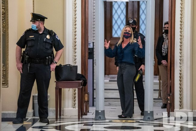 Rep. Marjorie Taylor Greene, Goes Through Security