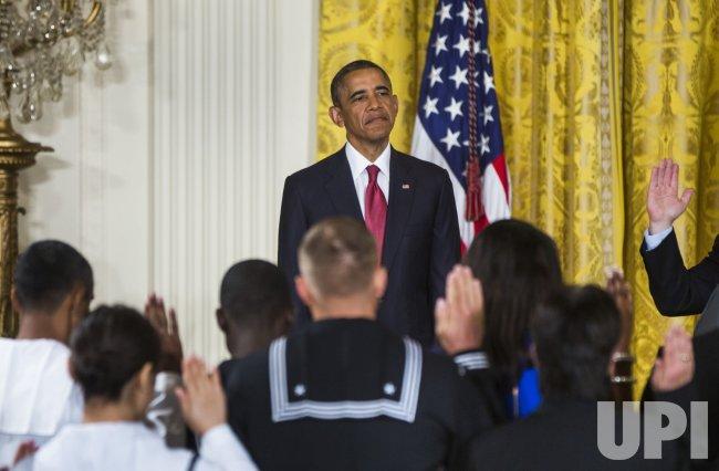 Obama Presides Over Naturalization Ceremony in Washington
