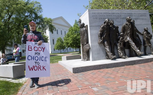 People Protest Virginia's Stay at Home Order during the COVID-19 Pandemic