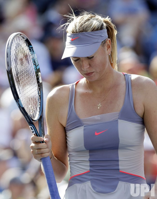 Maria Sharapova at the U.S. Open Tennis Championships in New York