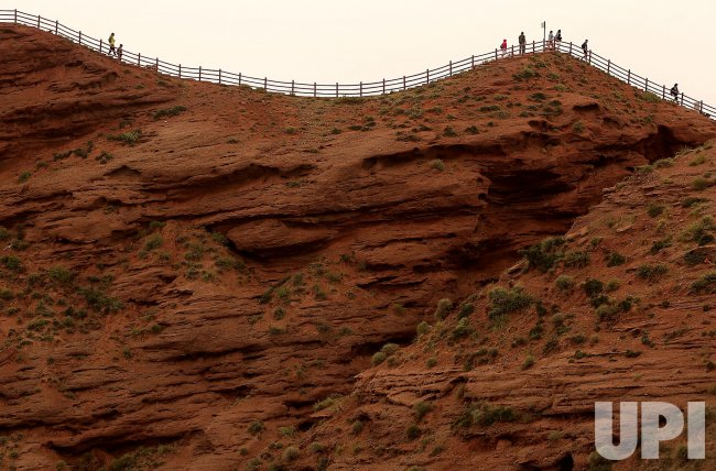 Tourists Visit China's 'Grand Canyon' in Wangye, China