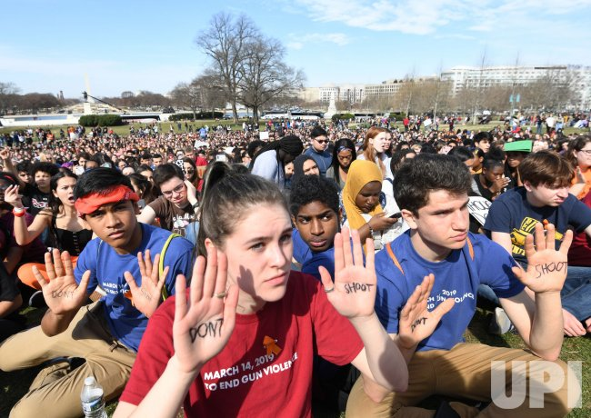 Students March in Washington against Gun Violence
