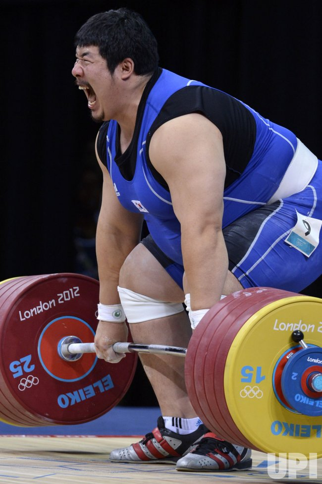 Men's 105kg+ weightlifting finals at 2012 Summer Olympics in London