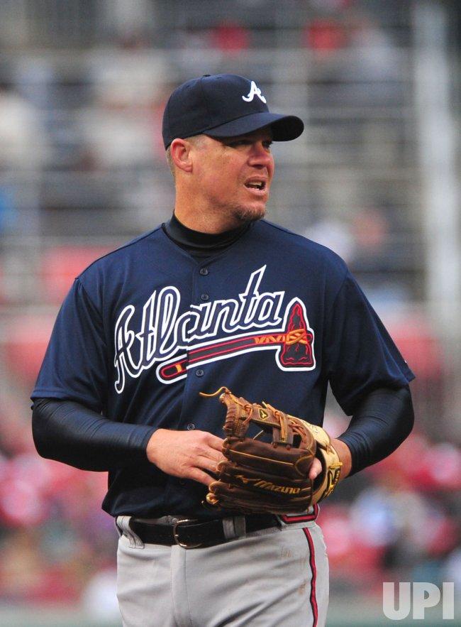Braves' third baseman Chipper Jones in Washington