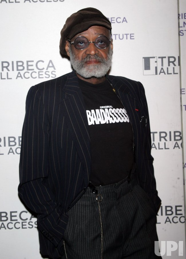 melvin peebles arrives at the tribeca insitute s