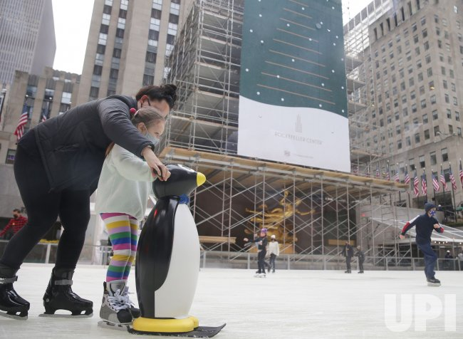 The Rink at Rockefeller Center Opens for Holiday Season in New York