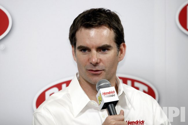 Jeff Gordon at NASCAR media tour press conference in Concord, North Carolina