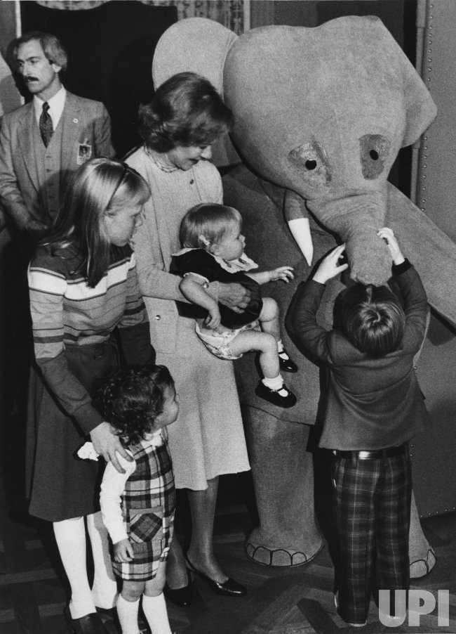 Babar the Elephant entertains children at the Carter White House