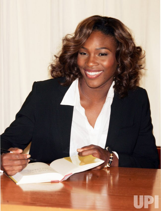 Serena Williams promotes her new book in New York