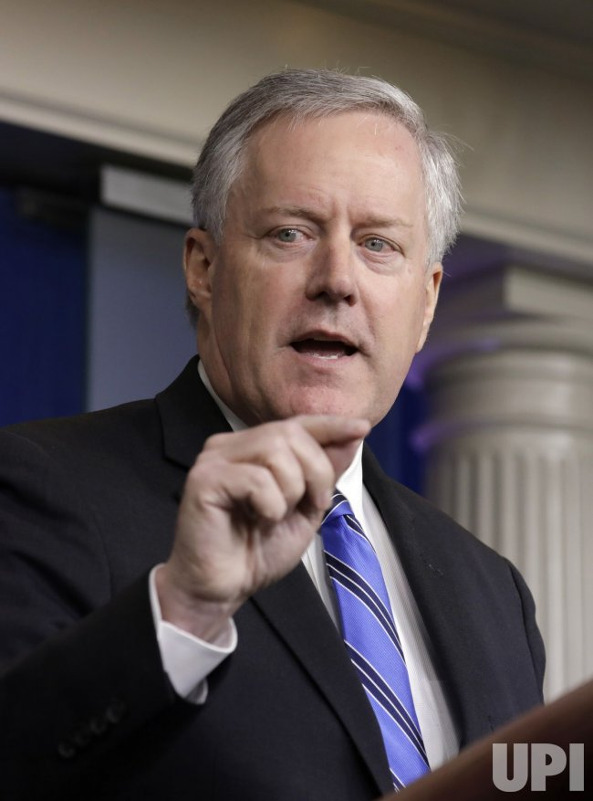 Mark Meadows at White House Press Briefing