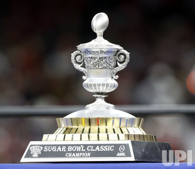 The Allstate Sugar Bowl trophy