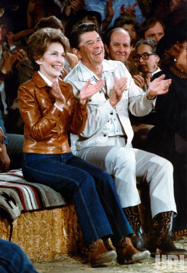 President and Nancy Reagan at Merle Haggard Concert