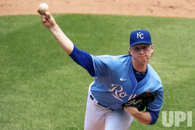 Royals Brady Singer Pitches Against the Tigers