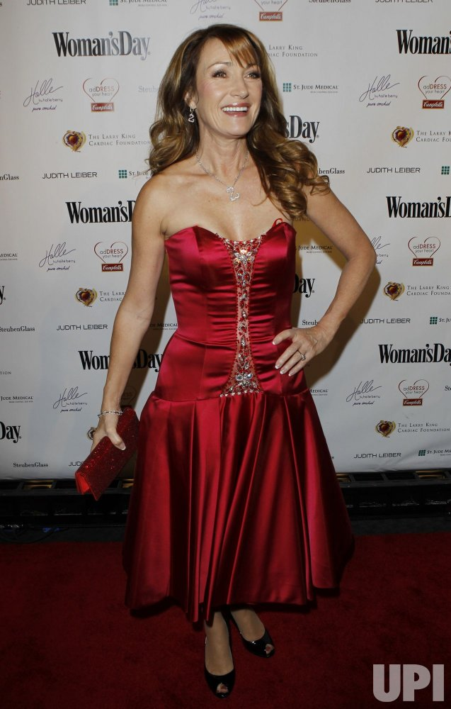 """Jane Seymour arrives at the seventh annual """"Red Dress Awards"""" at Lincoln Center in New York"""