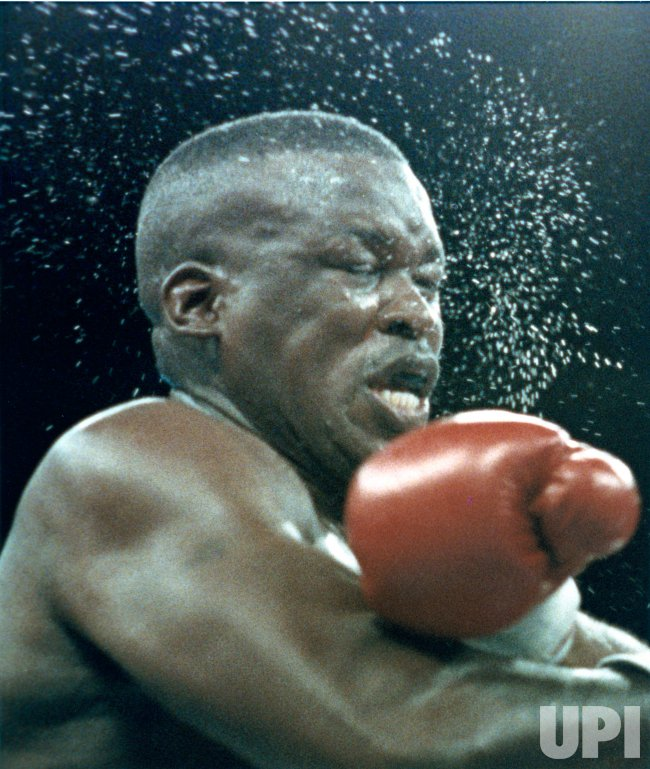James Buster Douglas gets beaten by Evander Holyfield