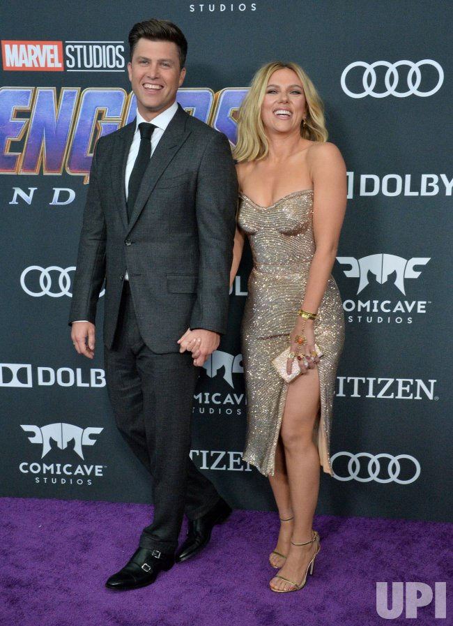 "Scarlett Johansson and Colin Jost attend ""Avengers: Endgame"" premiere in Los Angeles"