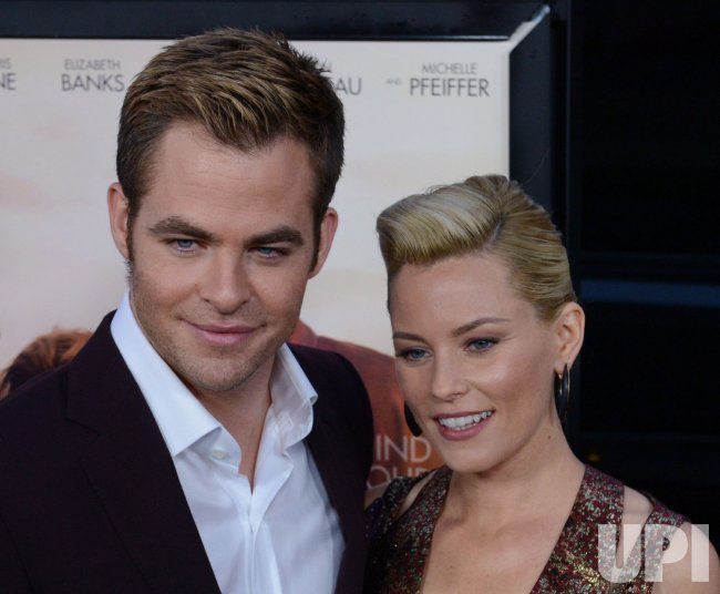 "Chris Pine and Elizabeth Banks attend the ""People Like Us"" premiere in Los Angeles"