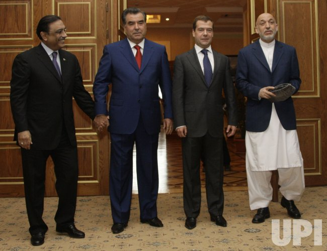 Presidents of Russian, Pakistan, Tajikistan, and Afghanistan meet in Dushanbe