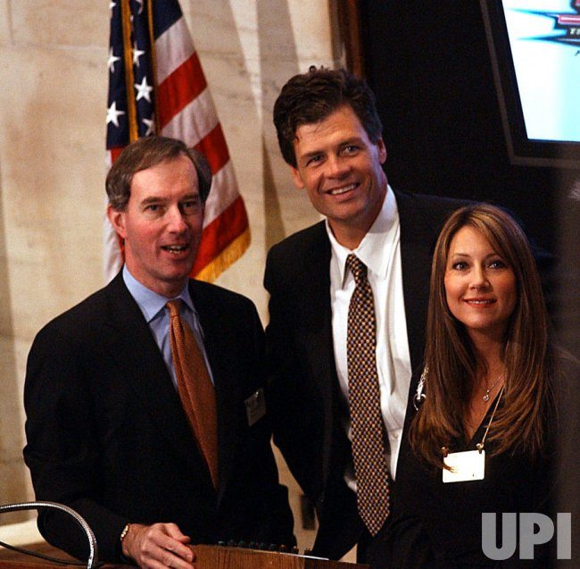 Michael Waltrip 2003 Daytona 500 winner visits the New York Stock Exchange