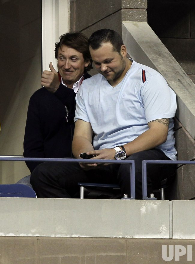 Joba Chamberlain and Wayne Gretzky at the U.S. Open Tennis Championships in New York