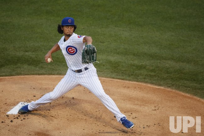 Cubs pitcher Yu Darvish delivers against Pirates at Wrigley Field in Chicago