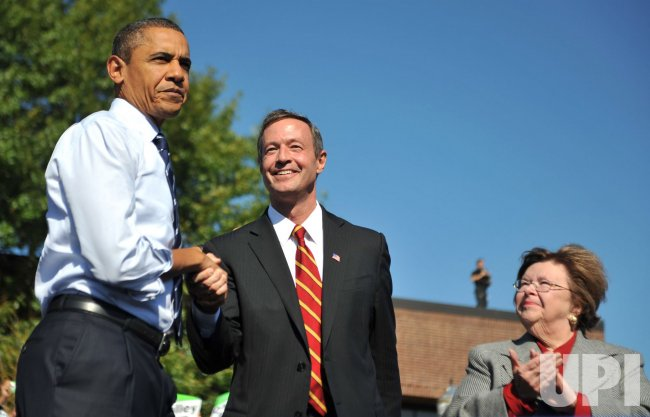 President Obama campaigns for Maryland Governor O'Malley in Washington