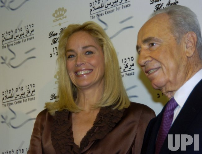 ACTRESS SHARON STONE VISITS ISRAEL WITH THE SHIMON PERES CENTER FOR PEACE