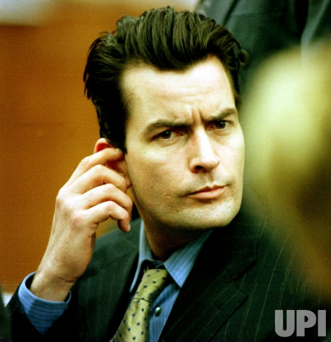 Charlie Sheen in court